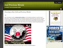 Tablet Preview of andpreciousmetals.org